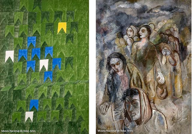 """""""Bandeirinhas"""", de Volpi (1969), e """"Êxodo II"""", de Lasar Segall (1949), no MNBA"""