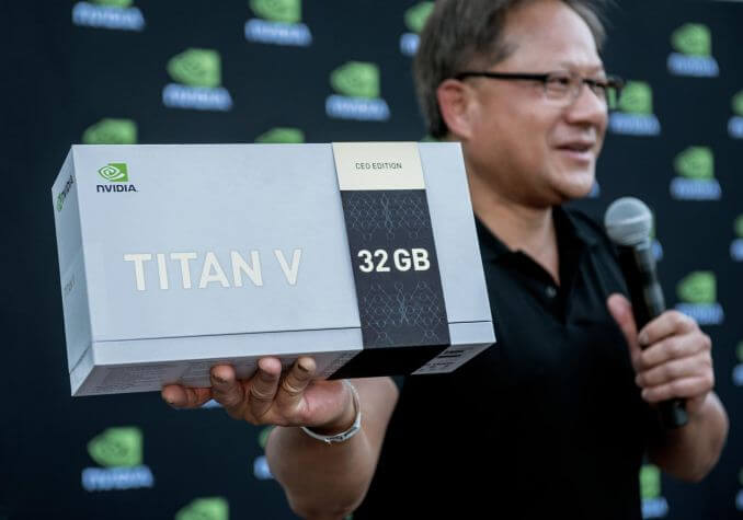 "NVIDIA New Limited Edition 32GB Titan V ""CEO Edition"""