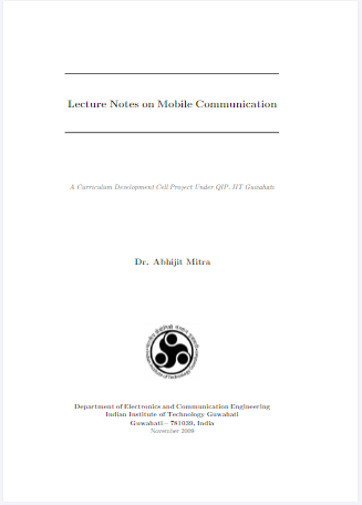 Lecture Notes on Mobile Communication PDF Free Download