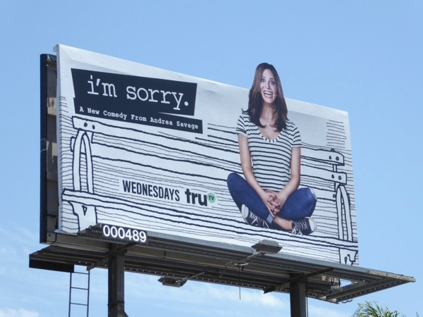 Im Sorry series premiere cut-out billboard