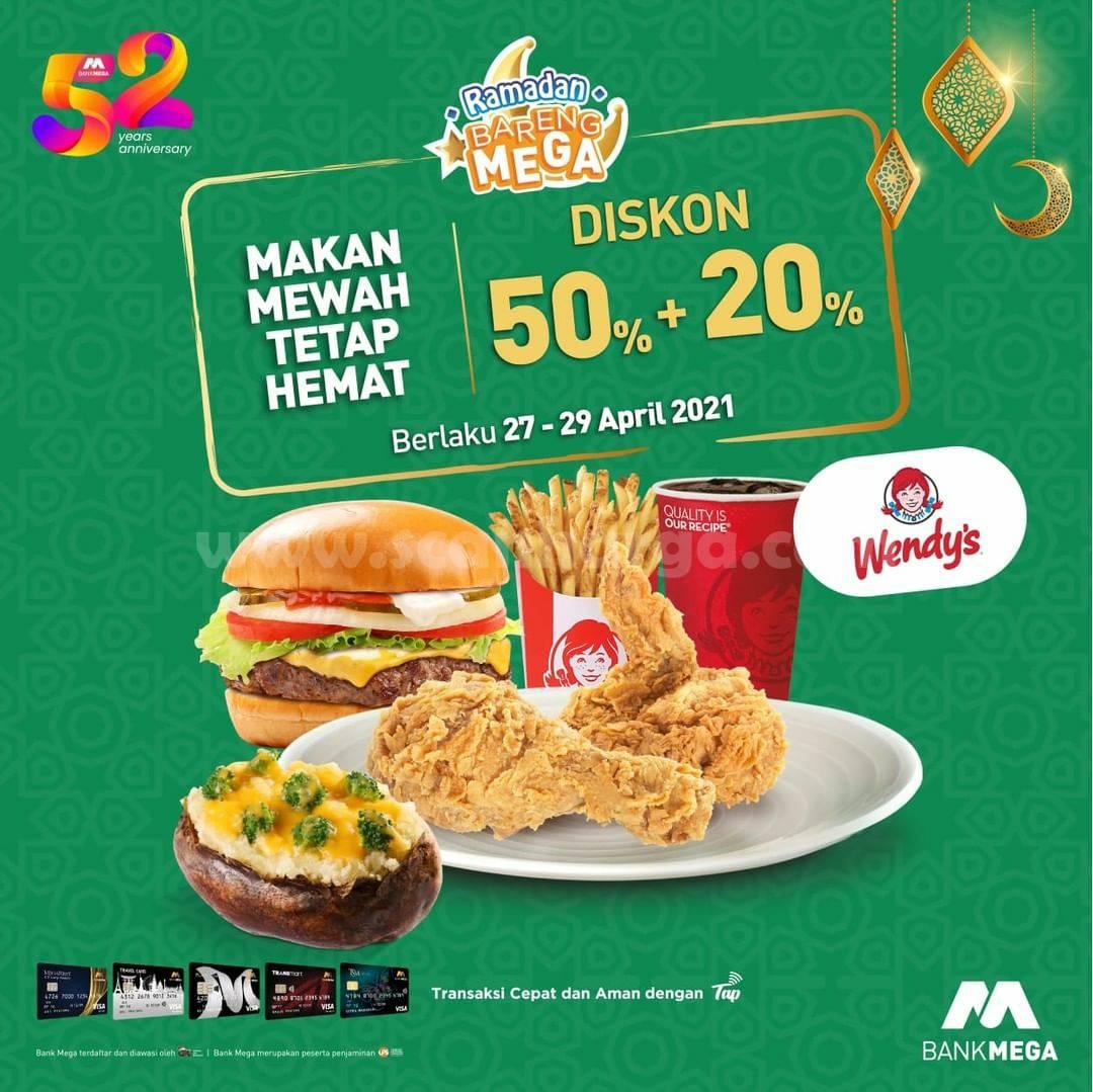 WENDY'S Promo Ramadan Bareng MEGA – Diskon 50% + 20% dengan Kartu Kredit Bank Mega