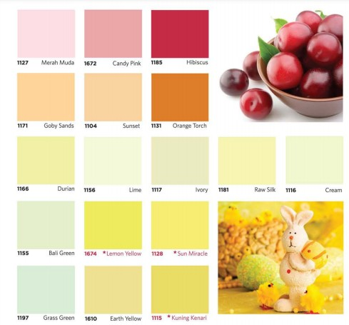 Katalog Warna Komilex Emulsion Paint