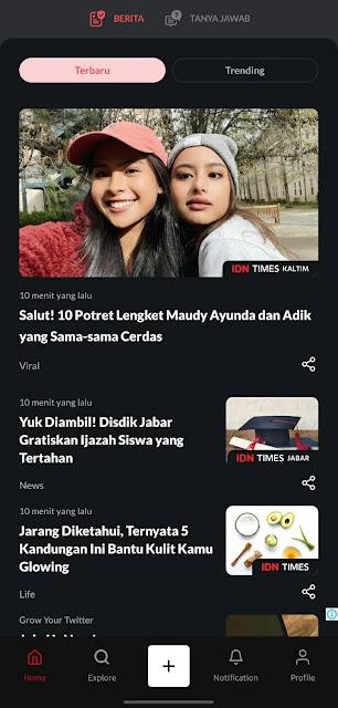 tampilan IDN App