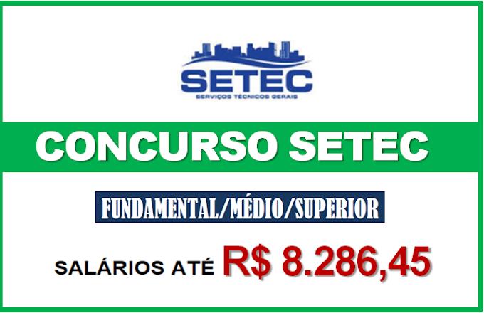Concurso Setec - SP: Inscrições abertas para todos os níveis de escolaridade. Salários até R$ 8.286,45