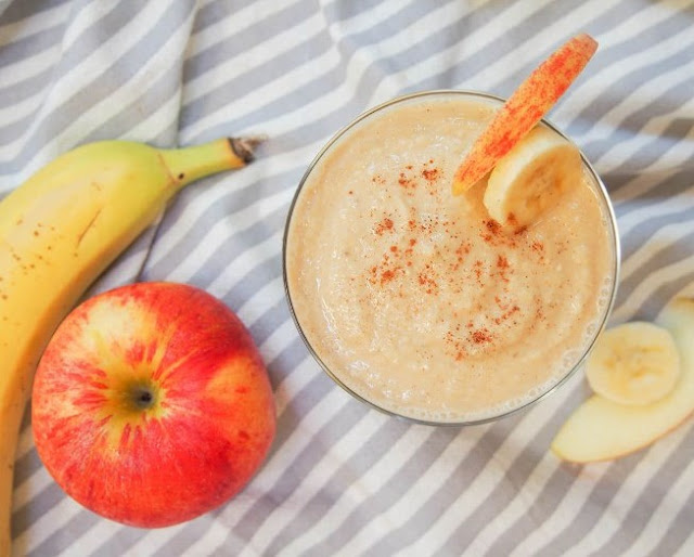 Apple Banana Smoothie #smoothies #drinks