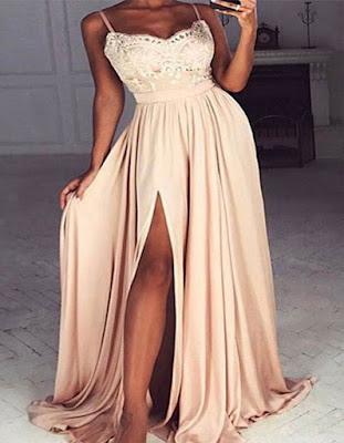 vestido elegante juvenil de moda para fiesta