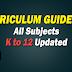 K-12 CURRICULUM GUIDES (CG) All Subjects/All Grade Levels