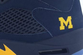 promo code 8c071 6a2e4 Here is a look at these Air Jordan 5 Michigan PE Sneakers that Jordan Brand  blessed the team with, definitely a shoe I doubt they will ever release.