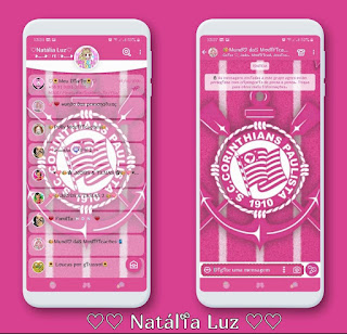 Corinthians Pink Theme For YOWhatsApp & Aero WhatsApp By Natalia Luz