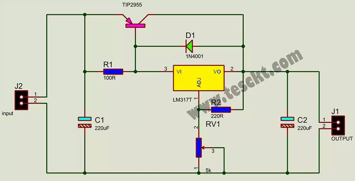 lm317 high current power supply circuit diagram