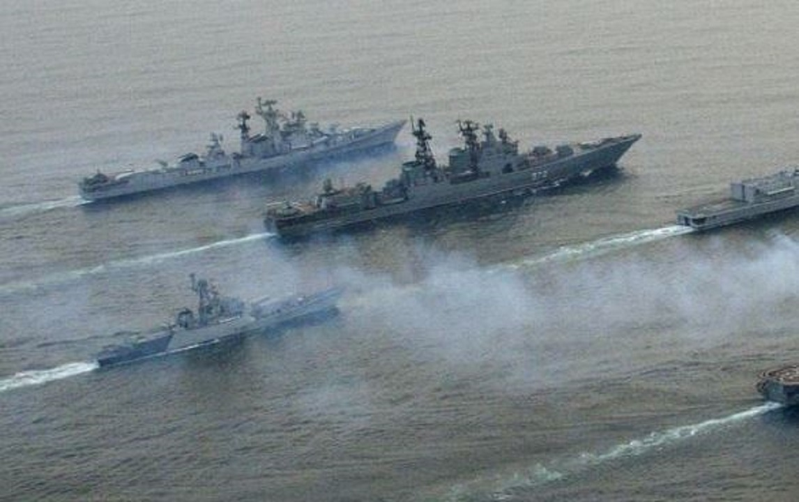 Five navies including India started military exercises