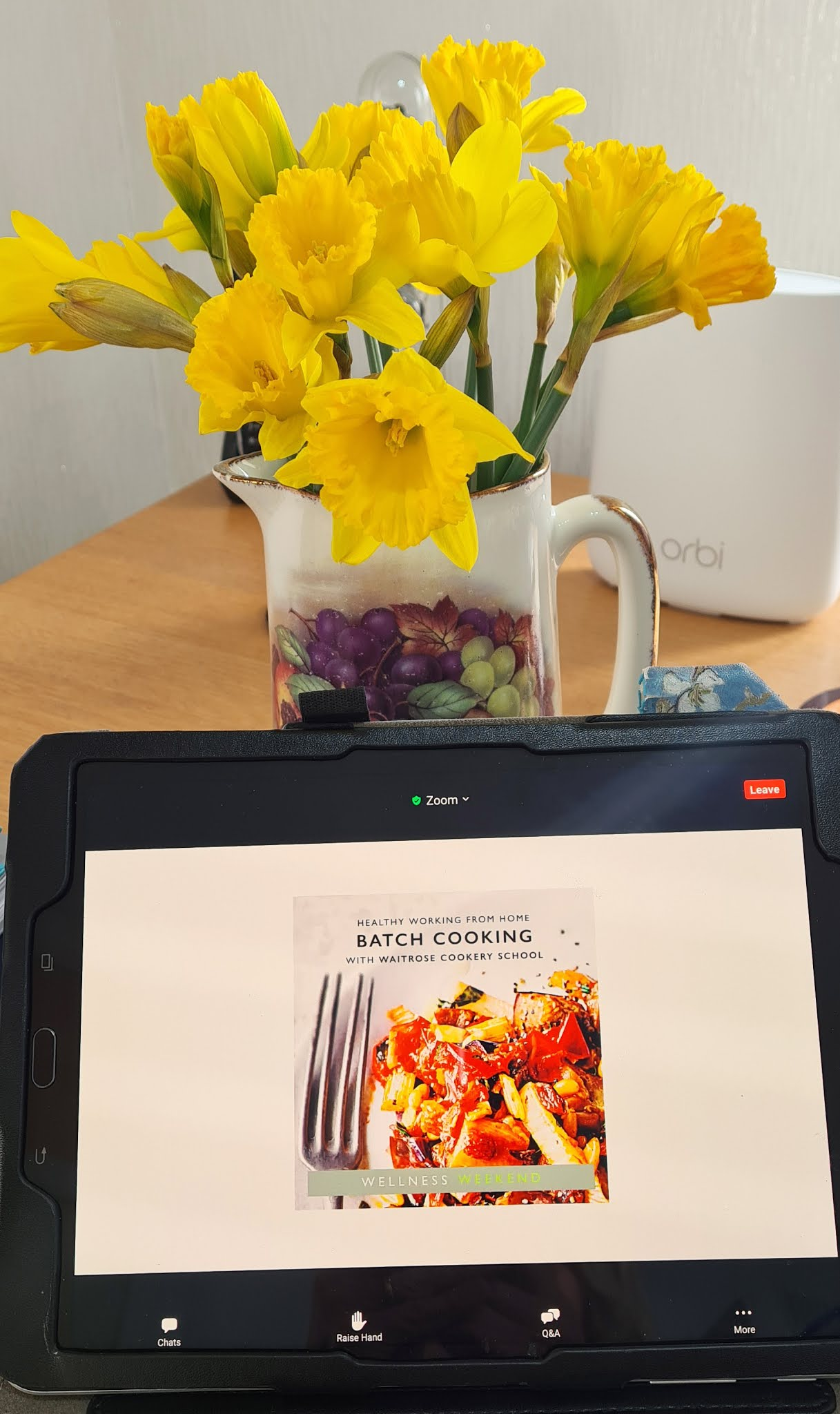 Waitrose online cookery class in action