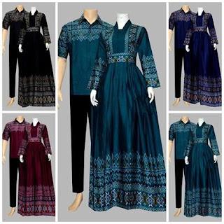 Batik Bagoes Solo Model Baju Gamis Batik Katun D1925