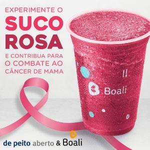 Boali apoia projeto 'De Peito Aberto' e cria suco rosa em homenagem ao Outubro Rosa