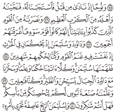 Tafsir Surat Al-Anbiya' Ayat 76, 77, 78, 79, 80