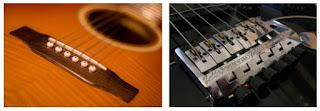 бридж акустической гитары и бридж электрогитары