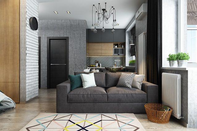 الشقة تصاميم داخلية لشقق صغيرة بمساحة 40 متر فقط