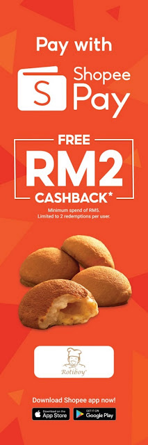 FRESH FROM THE OVEN - RM2 CASHBACK AT ROTIBOY WITH SHOPEEPAY