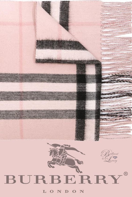Brilliant Luxury ♦ Burberry checked scarf #pink