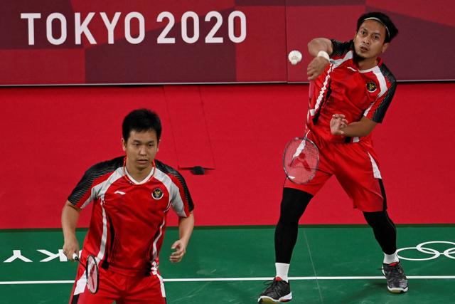 Olimpiade 2020: Dominasi Permainan, Ahsan/Hendra Tekuk Wakil Malaysia 2 Gim