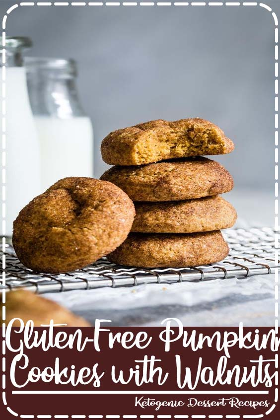 free pumpkin cookies are soft and pillowy and studded with toasted walnuts Gluten-Free Pumpkin Cookies with Walnuts