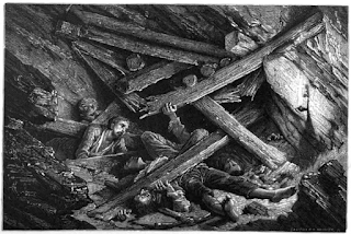 'Falling in of a Mine' (1869). One of the images featured in our exhibition