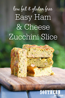 Healthy Easy Ham and Cheese Zucchini Slice Recipe