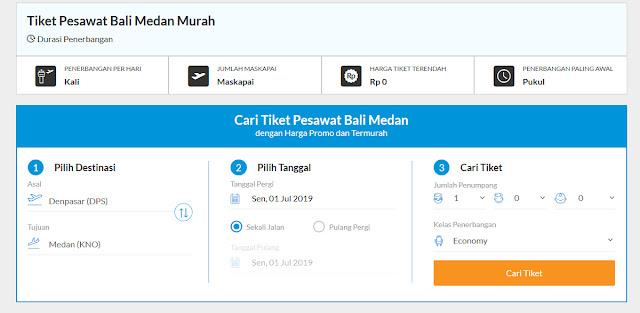 Alasan Beli Tiket Pesawat Bali Medan Via Online Makin Diminati