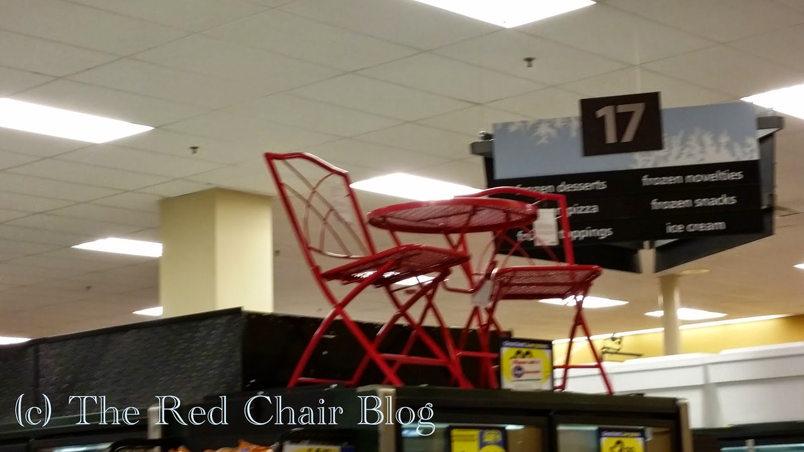 HD Designs red folding bistro set at The Red Chair Blog