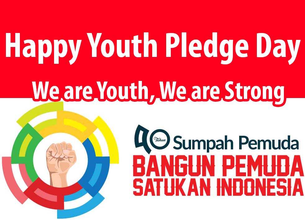 HAPPY INDONESIAN YOUTH PLEDGE WISHES & GREETINGS 2018/ 2019