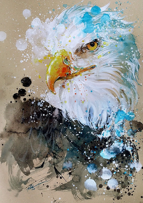 10-Eagle-Tilen-Ti-Colorful-Watercolor-Paintings-of-Animals-www-designstack-co