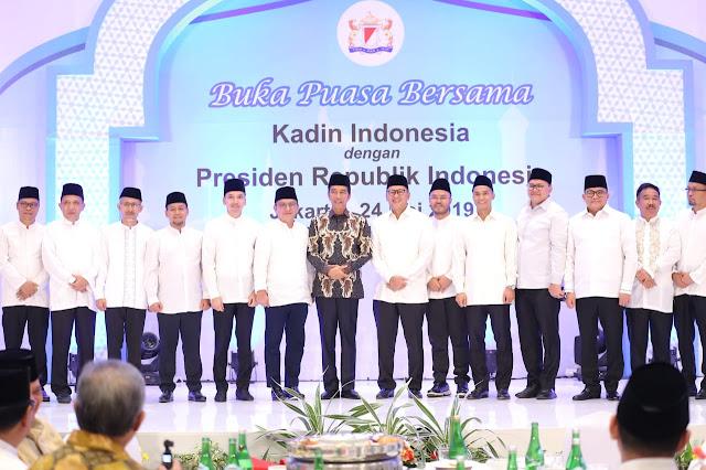 Bukber Kadin, Dodi Reza Alex Ucapkan Selamat ke Presiden Jokowi