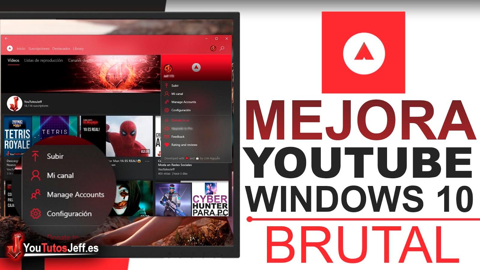 El Mejor Youtube para Windows 10, Descargar Awesome Tube Gratis