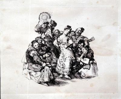 el Vito en una de las pinturas de Goya El Vito de Goya partitura de Piano