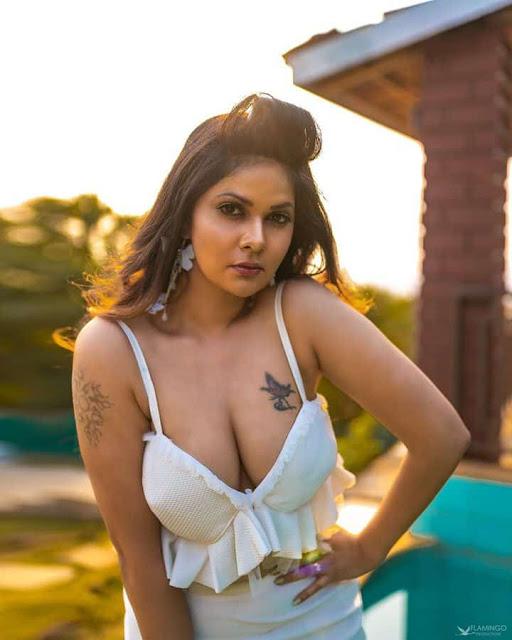 Aabha Paul Busty Big Boobs Photos