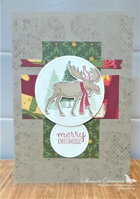 Merry Moose, Christmas Countdown, Night Before Christmas, Christmas Cards, One Sheet Wonder 6x6, Stampin' Up, Rhapsody in Craft, Art with Heart