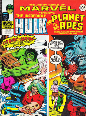 Mighty World of Marvel #235, Hulk and Planet of the Apes