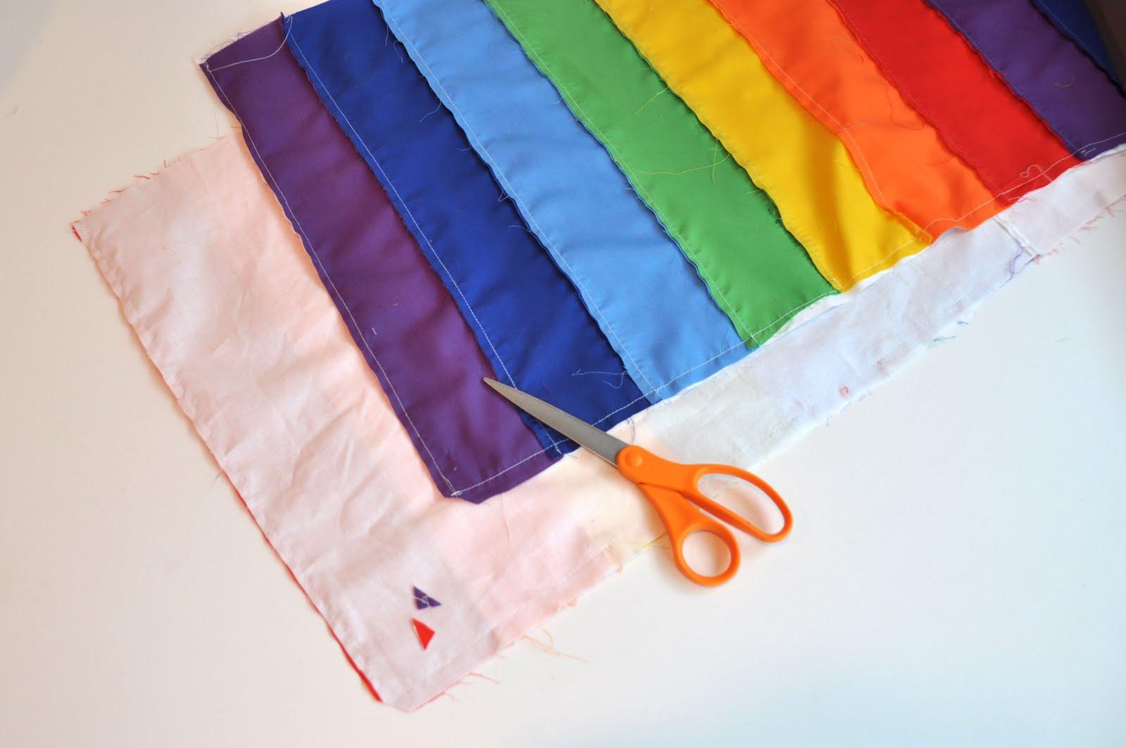 Aesthetic Nest Sewing Rainbow Wrap Skirt Tutorial