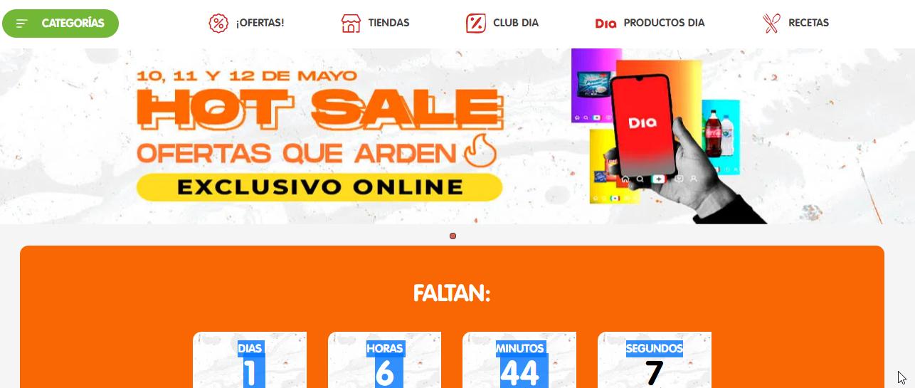 Promo Supermercados Dia Hot Sale 2021