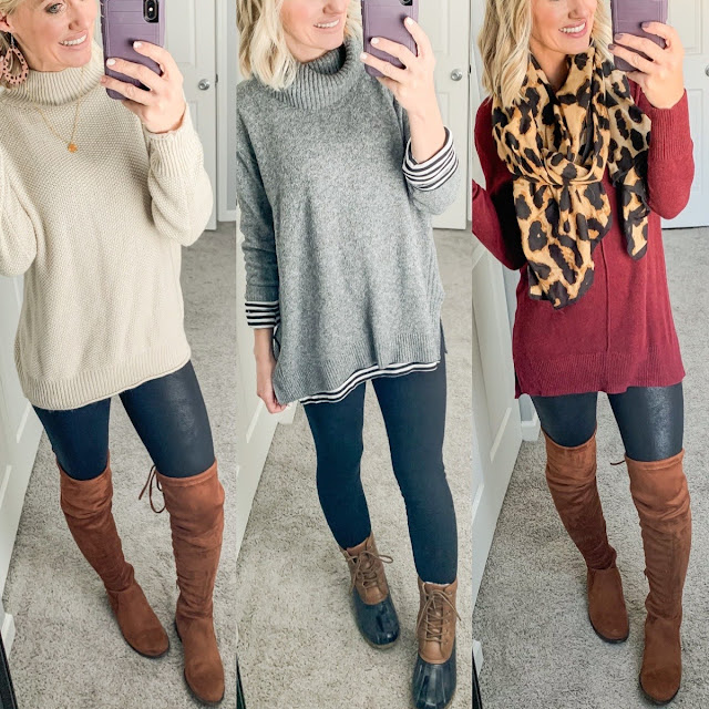 Oversized sweaters with leggings