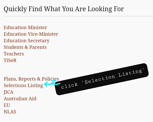 Education department website png