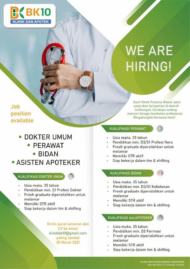 Loker Dokter Klinik BK10 Surabaya, Jawa Timur
