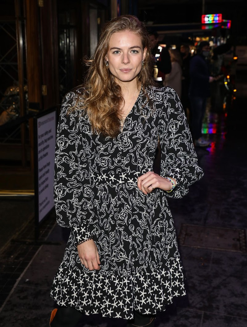 Rosie Tapner Clicks at A Christmas Carol Opening Night at Dominion Theatre in London 14 Dec-2020