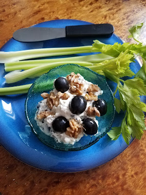 Cream Cheese Black Olive and Walnut Spread, part of our December blitz at OurSundayCafe.