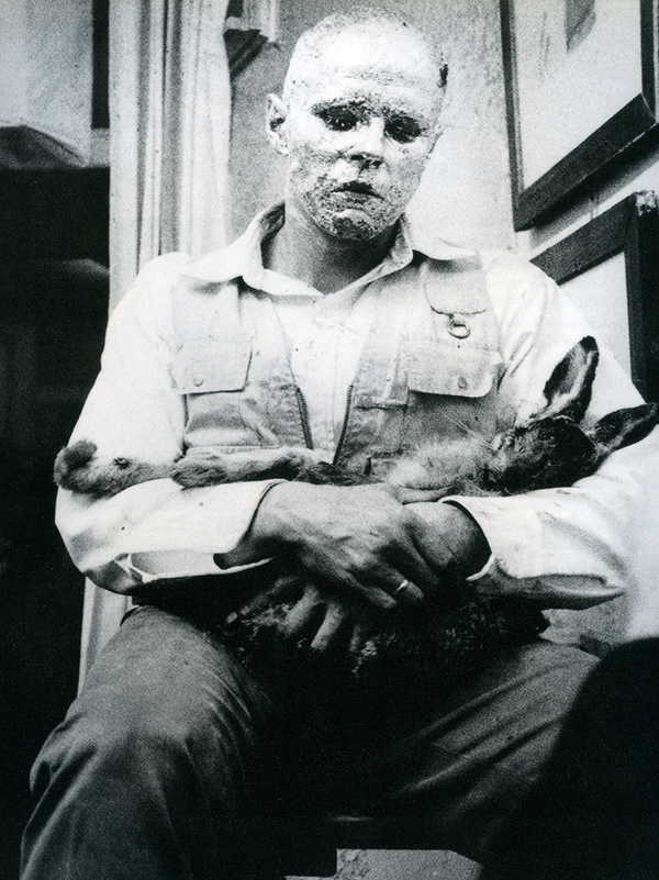 Joseph Beuys, How to Explain Paintings to a Dead Hare, 1965