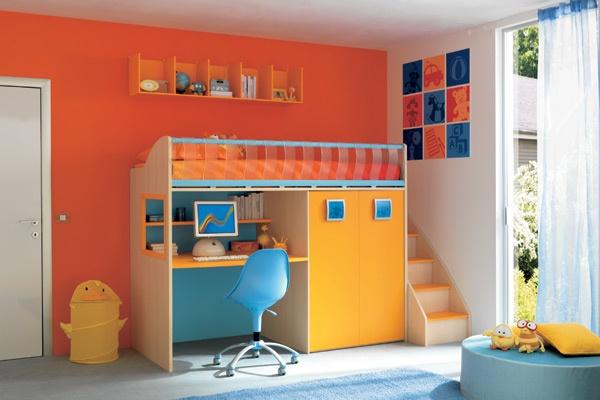 Dormitorios para ni os color naranja dormitorios con estilo - Habitaciones color naranja ...