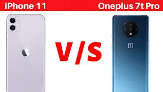 iPhone 11 vs Oneplus 7T Pro Feature Comparison | Battery, Display, RAM, Camera etc