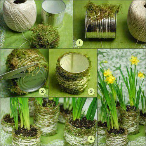 DIY How To Make Moss Plant Vase 1