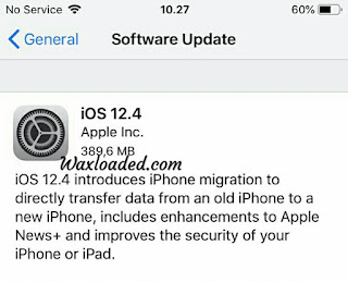 Apple iOS 12.4 New Update of security and data transfer