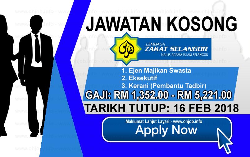 Jawatan Kerja Kosong Lembaga Zakat Selangor logo www.ohjob.info februari 2018